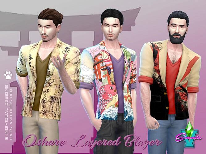 Oshare Layered Blazer By Simmiev