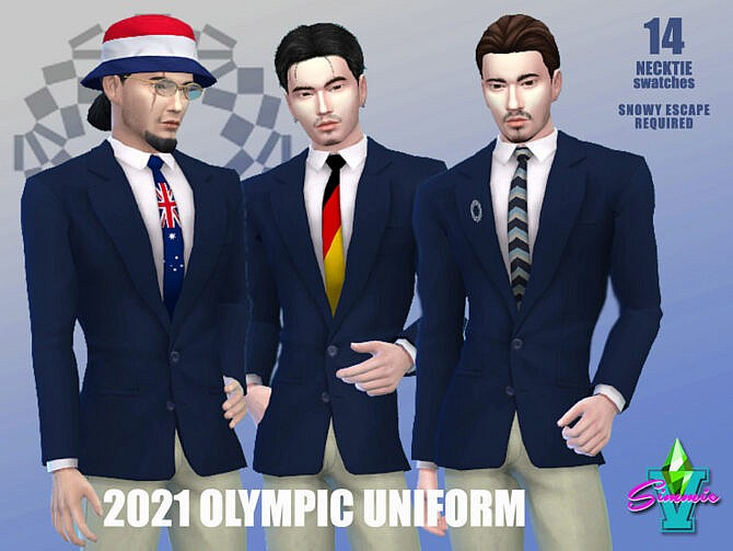 Sims 4 2021 Olympic Uniform by SimmieV at TSR