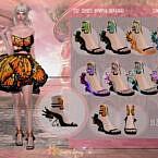 Dsf Shoes Nympha Danainae By Dansimsfantasy
