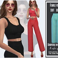 Female Knitted Suit Bottom By Sims House
