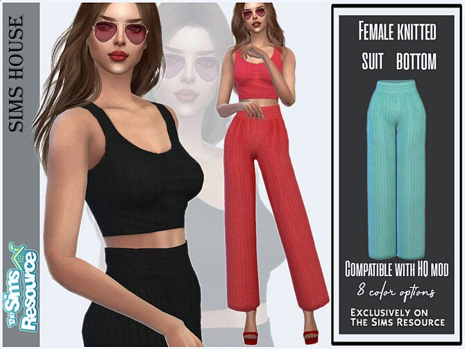 Sims 4 Female knitted suit bottom by Sims House at TSR