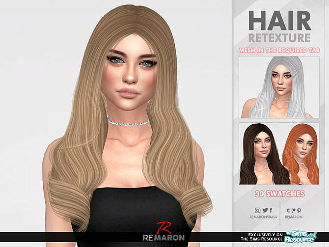 Sims 4 Queens Layer Hair Retexture by remaron at TSR