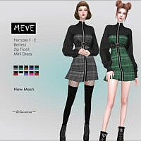 Meve Belted Dress By Helsoseira