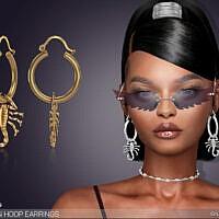 Scorpion Hoop Earrings By Feyona
