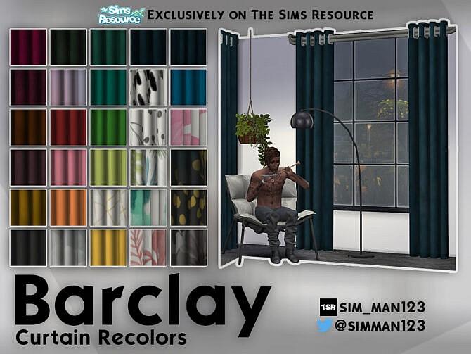 Sims 4 Barclay Curtain Recolors by sim man123 at TSR