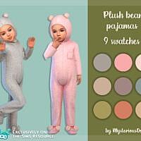 Plush Bear Pajamas By Mysteriousoo