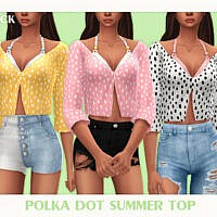 Polka Dot Summer Top By Black Lily