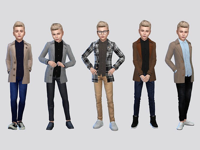 Santi Trench Coat Boys By Mclaynesims