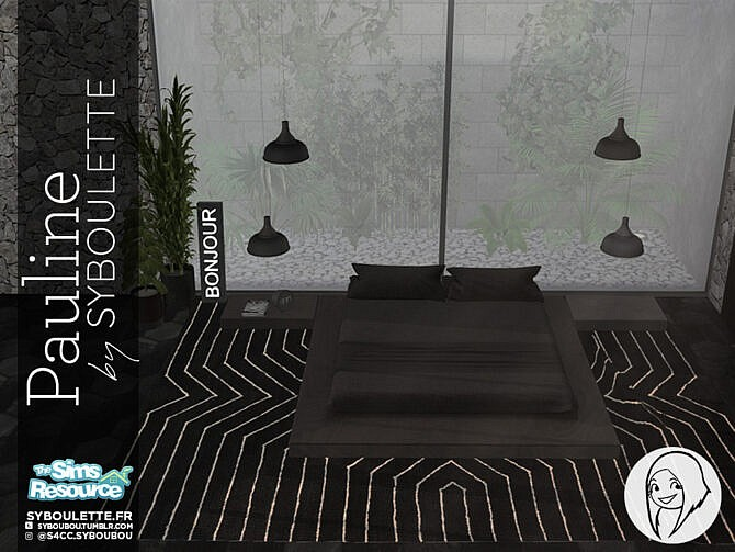 Sims 4 Pauline bedroom set by Syboubou at TSR