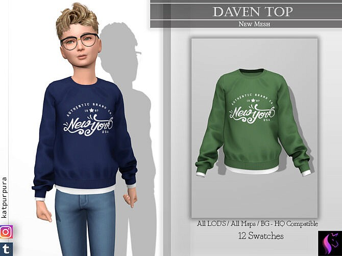 Sims 4 Daven Top by KaTPurpura at TSR