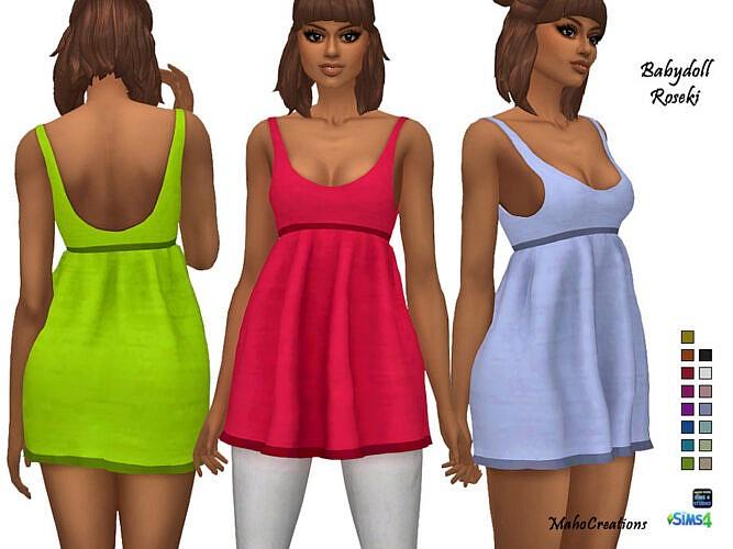 Babydoll Roseki Dress By Mahocreations
