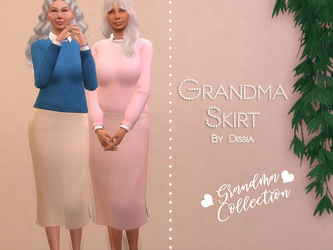 Sims 4 Grandma Skirt by Dissia at TSR