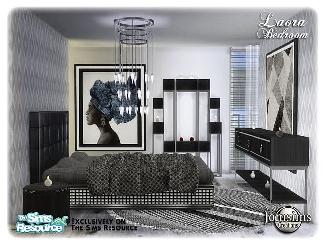 Sims 4 Laora bedroom by jomsims at TSR