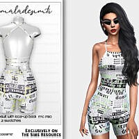 Cycling Jumpsuit With Lace-up Back Mc180 By Mermaladesimtr