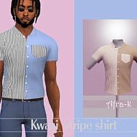 Kwasi Contrast Stripe Shirt By Akaysims