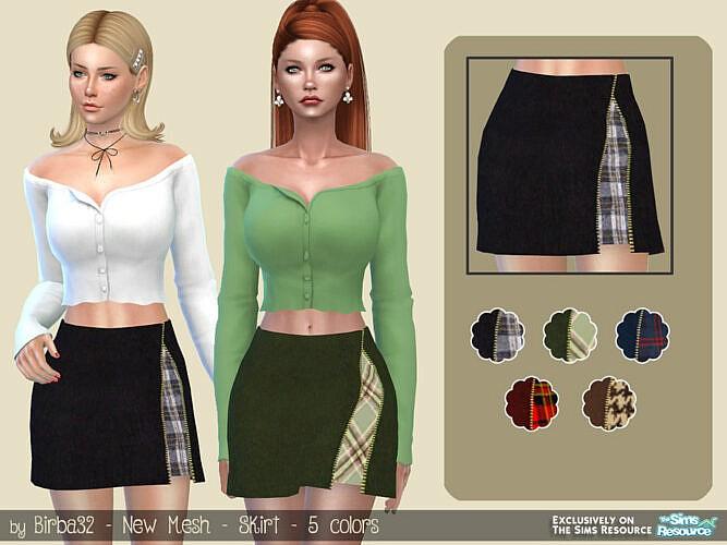 Zip Skirt By Birba32