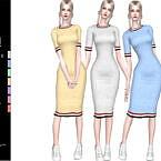 Lori Rib Knit Midi Dress By Helsoseira