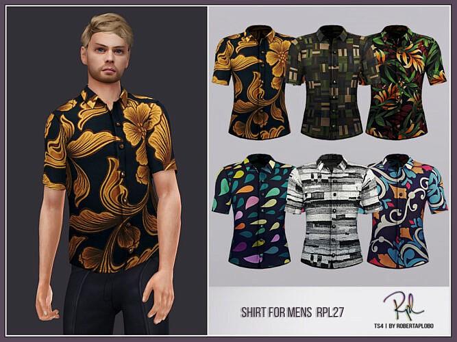 Shirt For Men Rpl27 By Robertaplobo