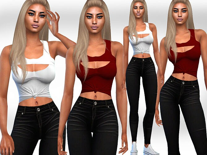 Sims 4 Casual Fit Outfits by Saliwa at TSR