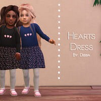 Hearts Dress Toddler By Dissia