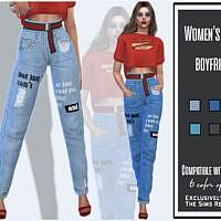 Women's Jeans Boyfriend By Sims House
