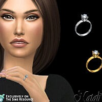 Classic Gentle Engagement Ring By Natalis