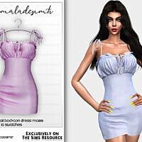 Tie Strap Detail Bodycon Dress Mc189 By Mermaladesimtr