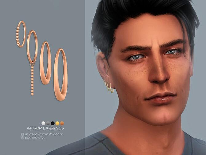 Sims 4 Affair earrings | Right by sugar owl at TSR