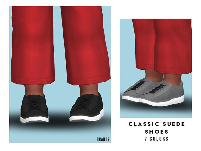 Sims 4 Classic Suede Shoes (Toddler) by OranosTR at TSR