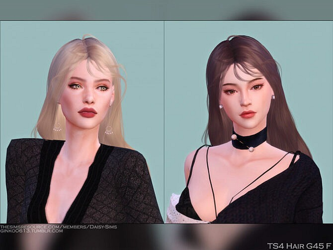 Sims 4 Female Hair G45 by Daisy Sims at TSR