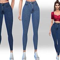 High Waist Casual Jeans By Saliwa