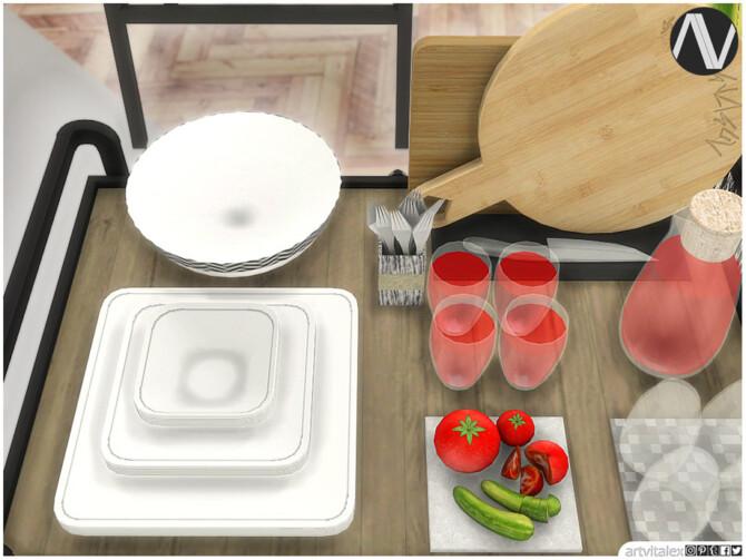 Sims 4 Tyler Outdoor Dining Extra by ArtVitalex at TSR