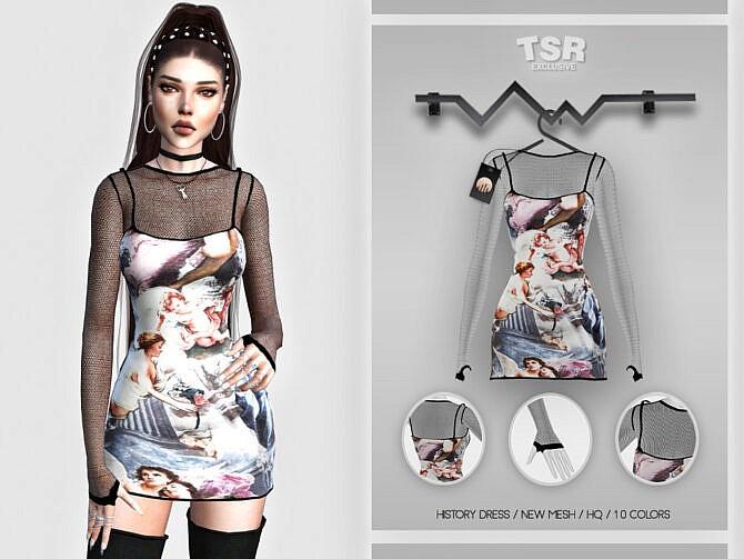 Sims 4 History Dress BD453 by busra tr at TSR