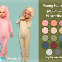 Bunny Knitted Pajamas By Mysteriousoo