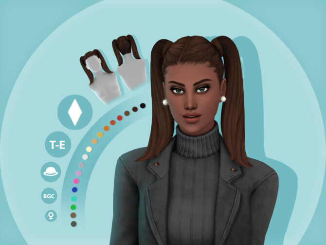 Sims 4 Asia Maxis Match Hairstyle by simcelebrity00 at TSR