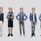 Bon Denim Hoodie Jacket Boys By Mclaynesims