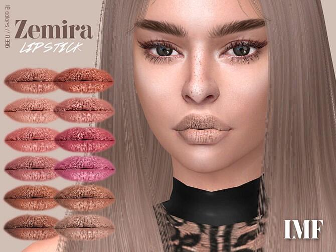Sims 4 IMF Zemira Lipstick N.336 by IzzieMcFire at TSR