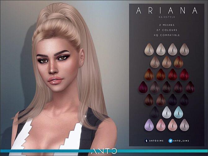 Sims 4 Ariana Hair by Anto at TSR