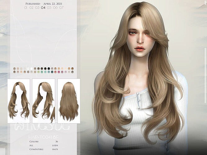 Wings-to0418 Hair By Wingssims
