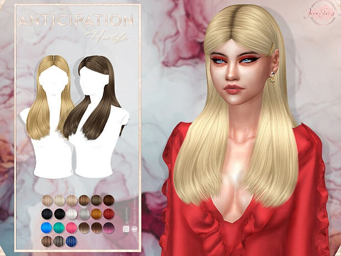 Anticipation Hair Set By Javasims