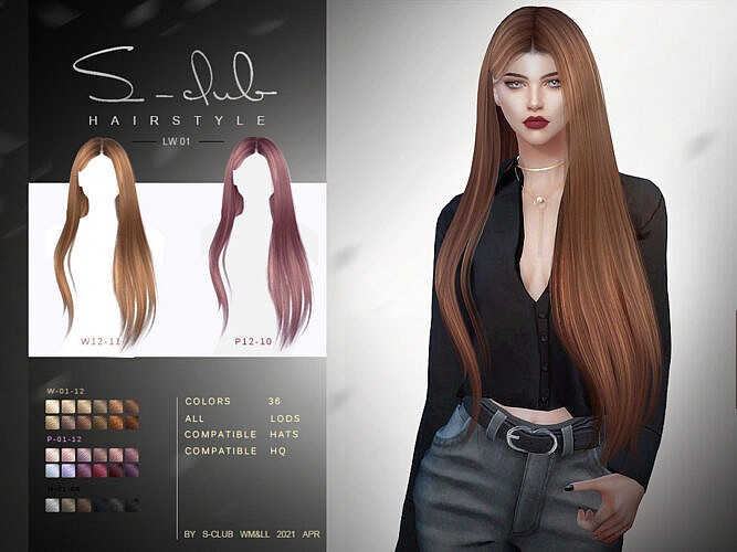 Long Hairstyle 202101 By S-club Lw