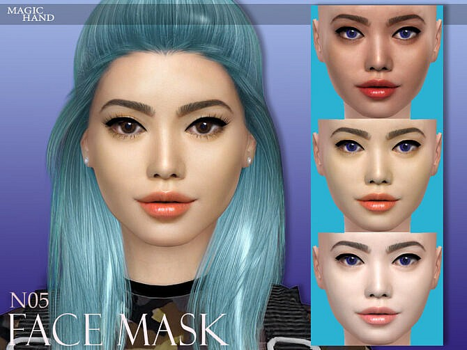 Sims 4 Face Mask N05 by MagicHand at TSR