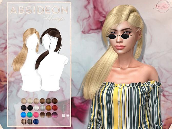 Sims 4 Absibdeon  Hair Set by JavaSims at TSR