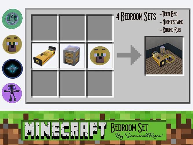 Minecraft Bedroom Set By Savannahraine