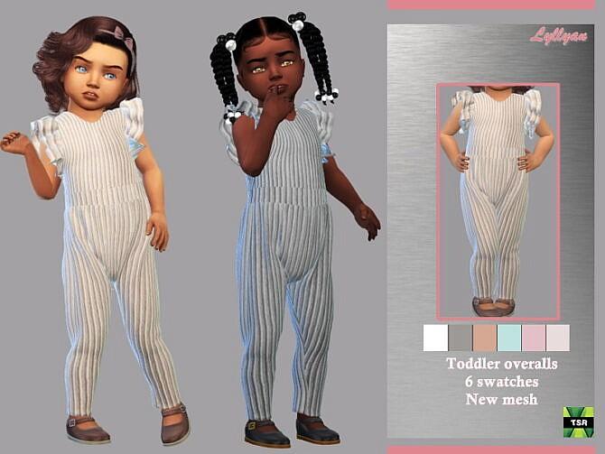 Sims 4 Toddler overalls Dalila by LYLLYAN at TSR