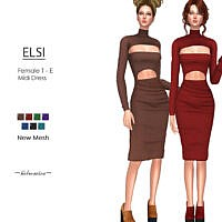Elsi Midi Dress By Helsoseira