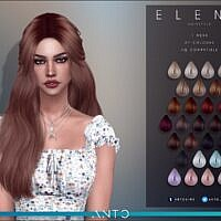 Elena Long Hair Tied Back By Anto