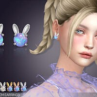 Bunny Gem Earrings