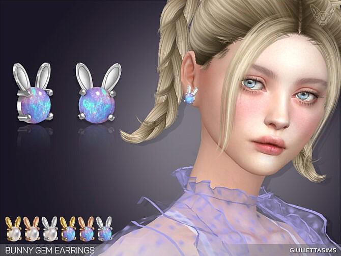 Sims 4 Bunny Gem Earrings at Giulietta