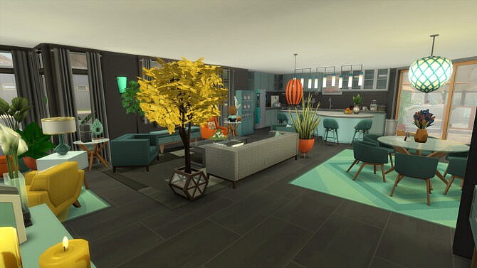 Sims 4 Desert Cascade Luxury Modern by Brand at Mod The Sims 4